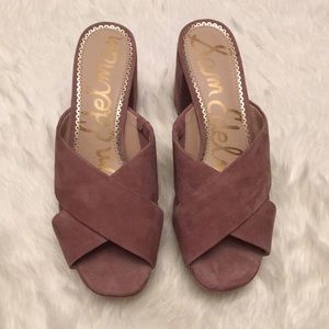 0abc8b7a0bf Sam Edelman Shoes - NIB Jayne Dusty Rose Suede Platform Mules Size 8.5